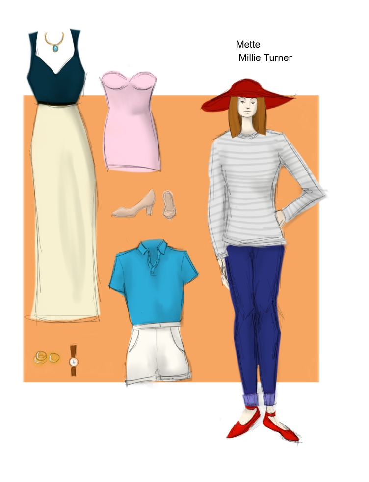 Costume Drawing - Mette