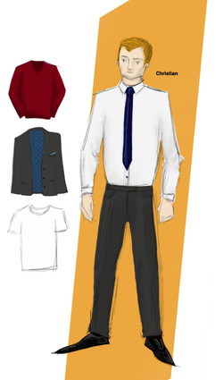 Costume Drawing - Christian