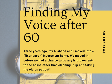 Finding My Voice after 60