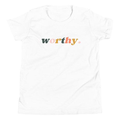 "Youth Short Sleeve ""Worthy"" T-Shirt"
