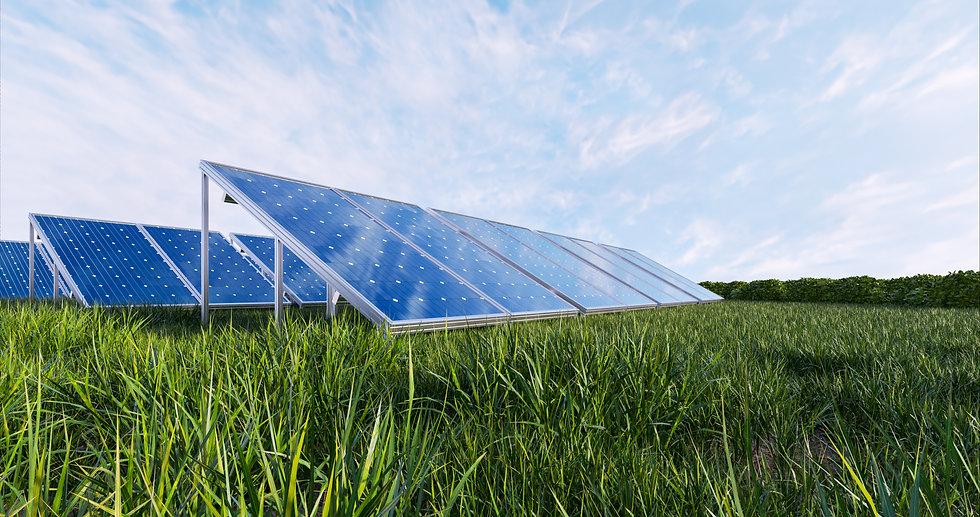 solar-power-panel-sky-background-3d-rend