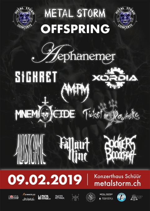 Metal Storm Offspring 2019, 9. Februar, Schüür Luzern