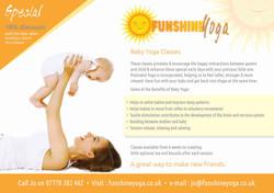 Funshine yoga leaflet