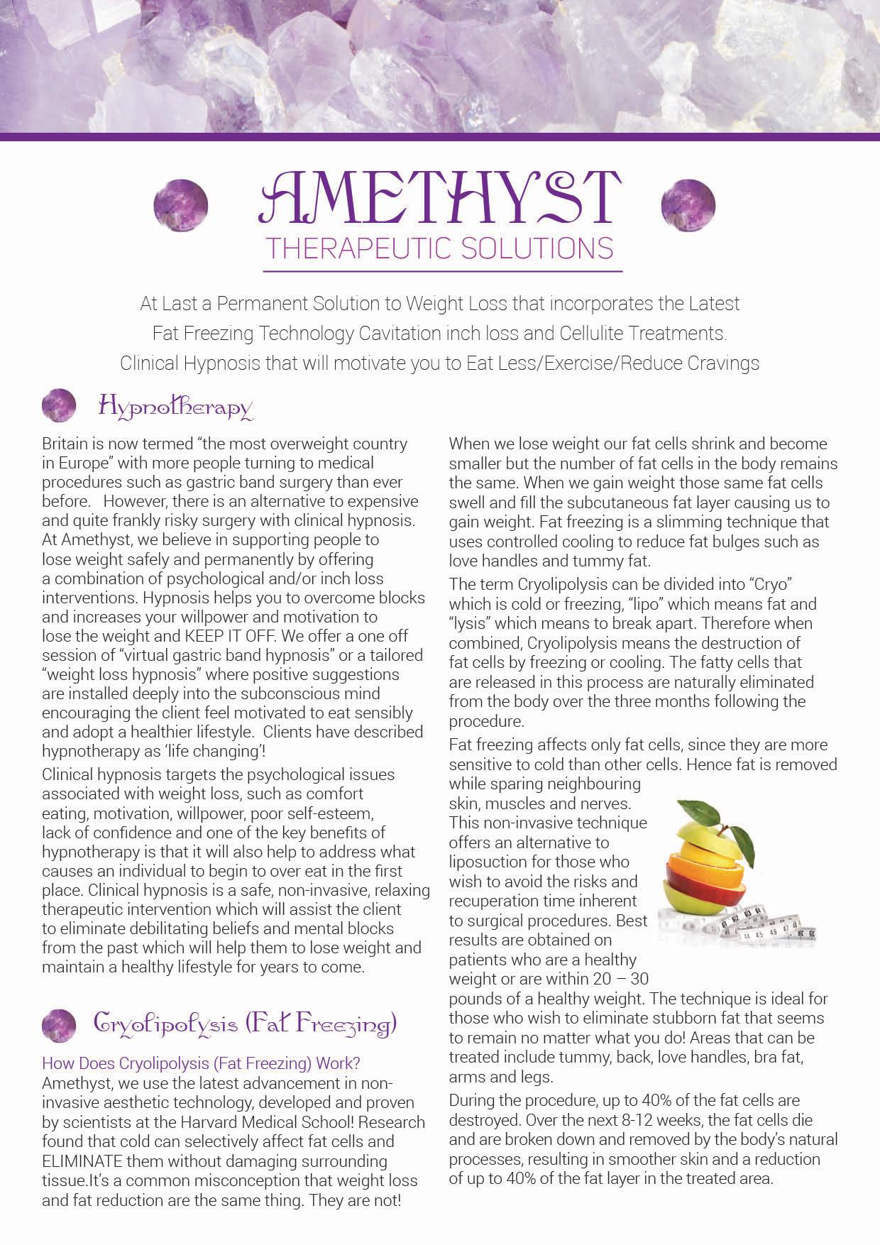 Amethyst Leaflet front