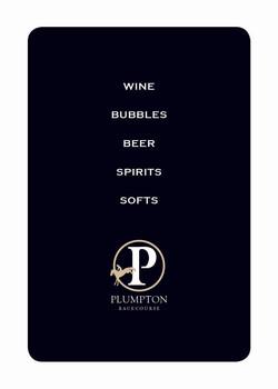 Plumpton Wine Menu Holder