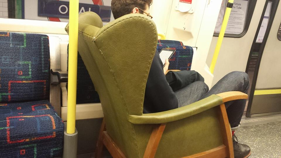 Excuse me sir, you sit on my train.