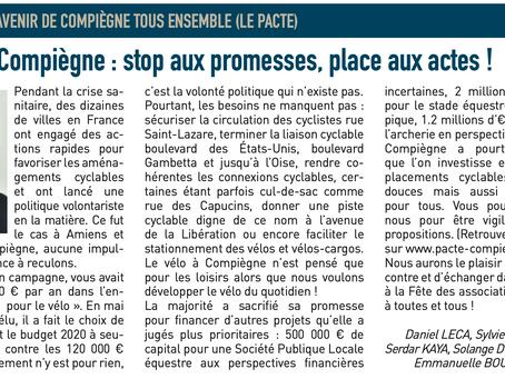 Le vélo à Compiègne : stop aux promesses, place aux actes!