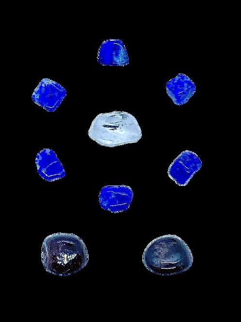 Lapis Lazuli, Clear Quartz & Garnet Healing Mandala