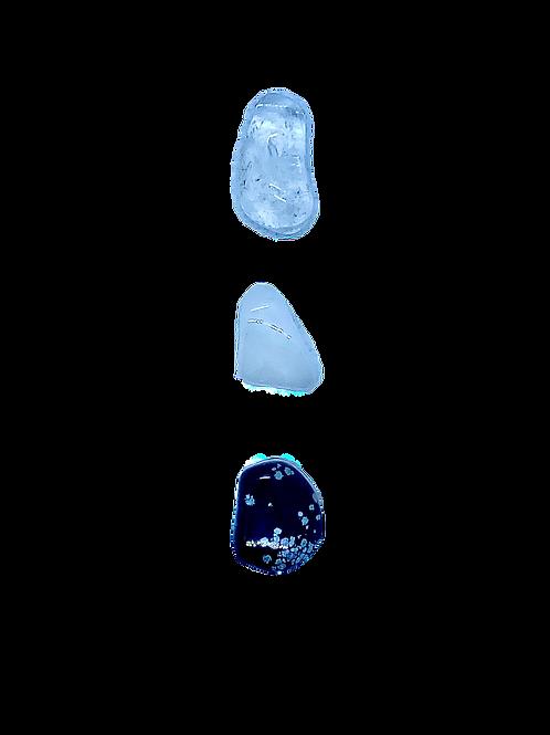 Snowflake Obsidian, Snowy & Clear Quartz CleansingSet