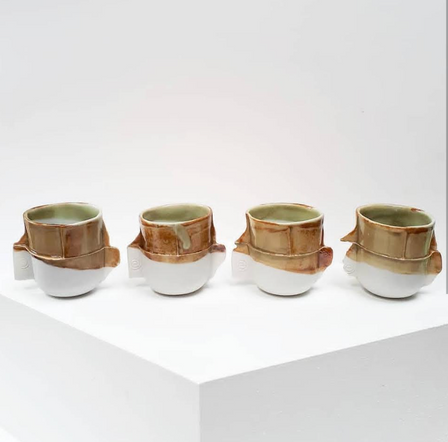 green and yellow ocre edge cups