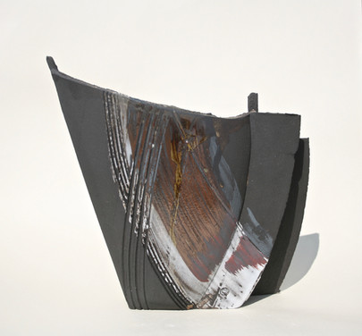 Vulcan Black Stoneware Vessel medium