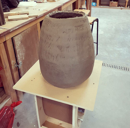 Building the body of the kiln