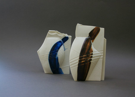 Handbuilt Porcelain Mini Vessels (Blue: SOLD)