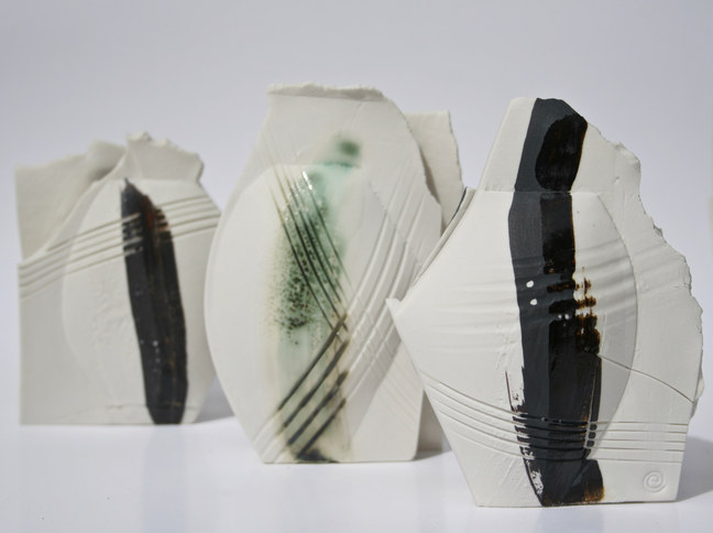 Handbuilt Porcelain Mini Vessels