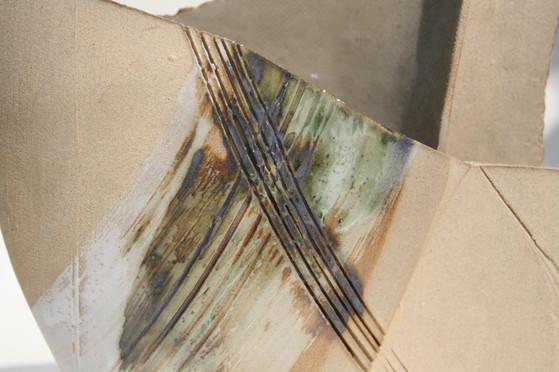 Stoneware Copper Vessel (detail)