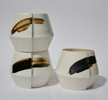 Slip Cast Porcelain Cups