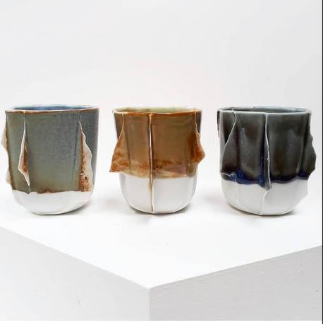 medium edge cups (various reduction glaz
