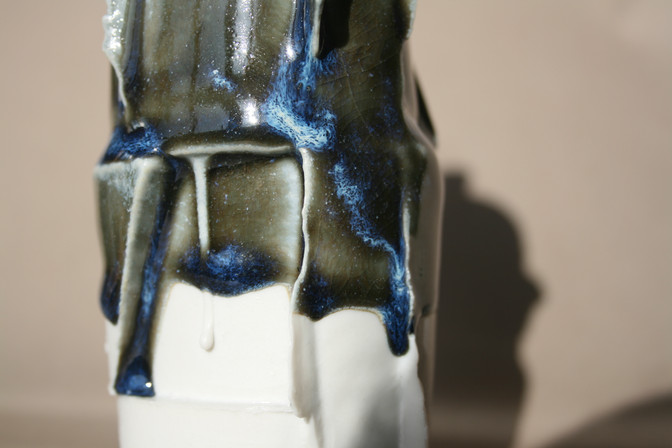 Reduction Glaze Edge Bottle (Detail)