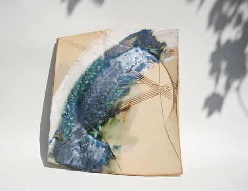 Stoneware Expressive Copper Plate
