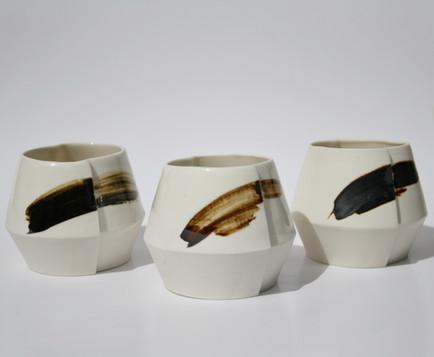 Porcelain Slip Cast Edge Cups