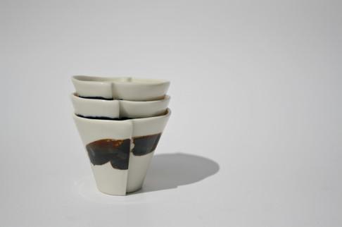 Edge Espresso Cups (stacked)