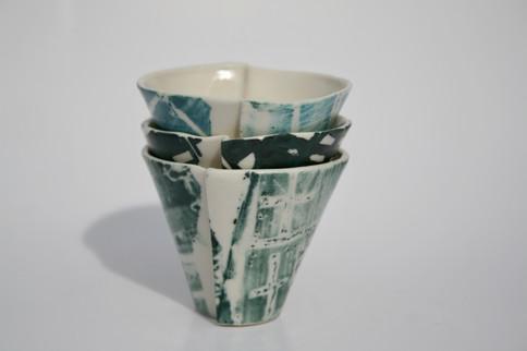House Lino Printed Edge Shot Cups