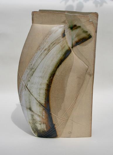 Large Stoneware Copper Vessel