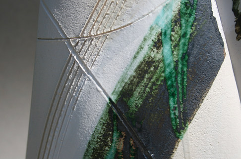 Large Green Vessel Detail Shot