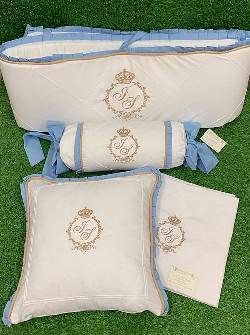 Pillow & Sheet, Rolly Pillow & Half Bumper Set