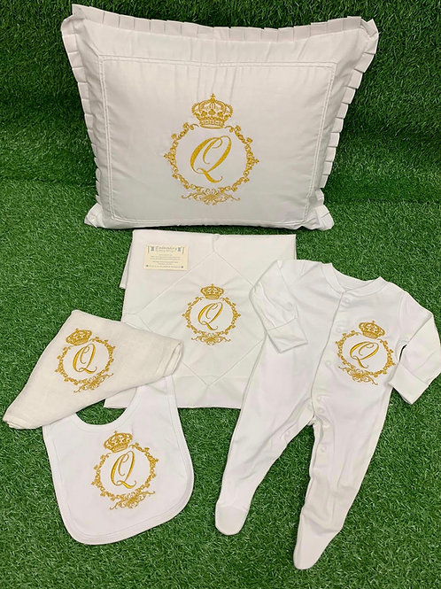 Crown Collection Pillow & Sheet Set