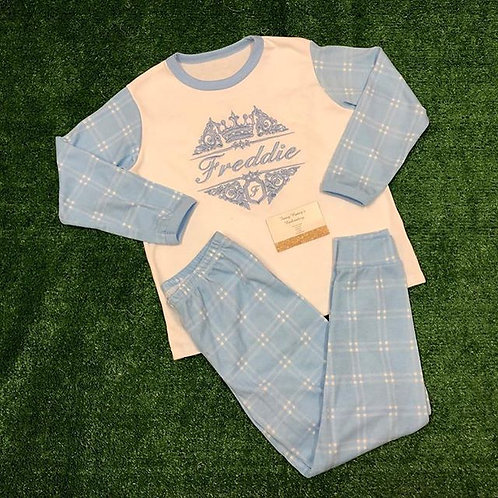 Blue Checked Pjs