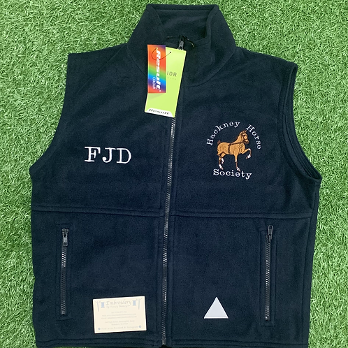 Kid's Hackney Horse Society PolarTherm Bodywarmer (Excluding Initials or a Name)