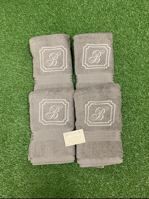 Square Crest & Fancy Initial Towel Set