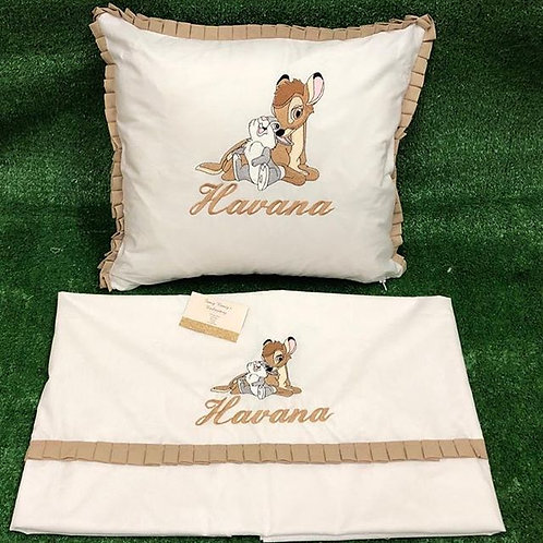 Cream Pillow and Sheet