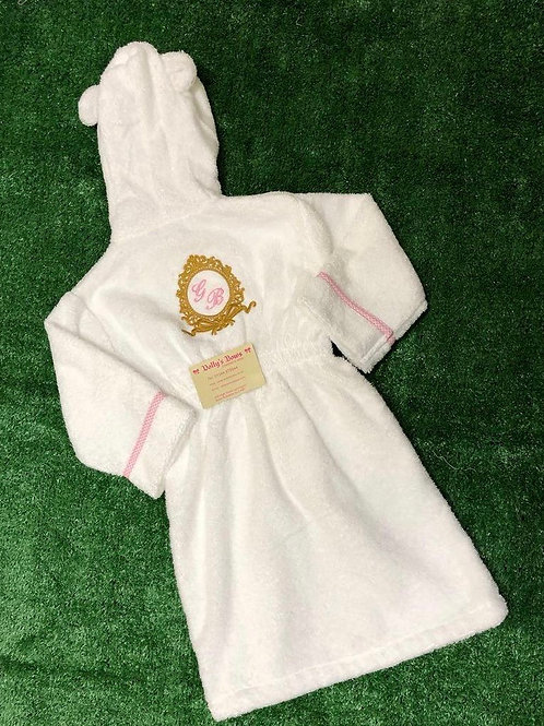 Towel Gold Bow Crest Robe