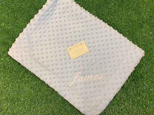 Bobbly blanket with Personalised Name
