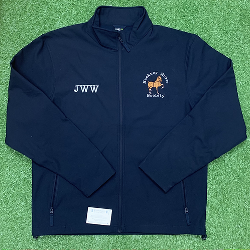 Men's Hackney Horse Society Softshell Jacket (Excluding a Name or Initials)