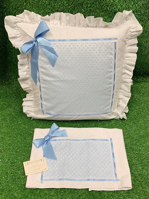 Blue Diamond Pillow & Sheet Set