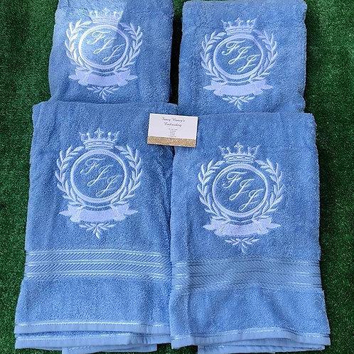 Blue Bath Towels