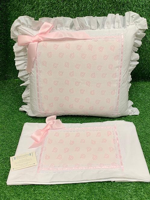 Pink Balloon Pillow & Sheet Set