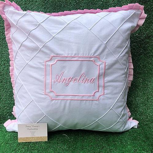 White Pintuck Pillow