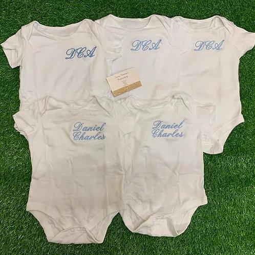 White Vest-Sizes: Newborn to 18-24m (Popper Vests)
