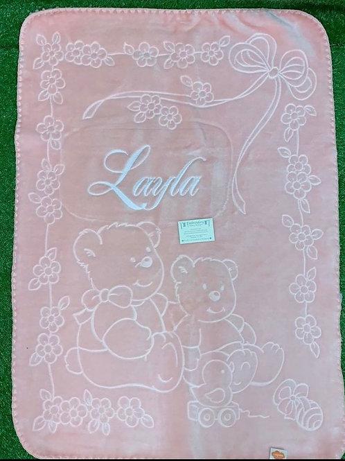 Pink Soft Spanish Blankets