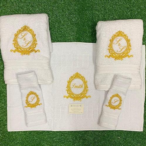 Bow Crest Towel Set