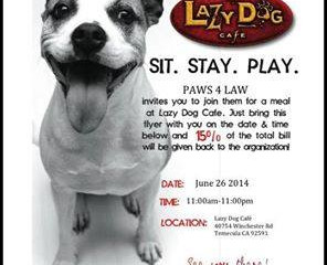 Lazy Dog P4L Fundraiser
