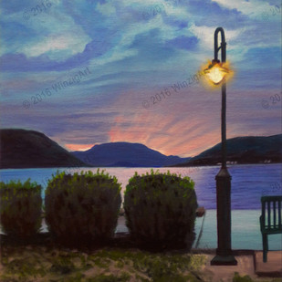 Lamp Glow on the Hudson