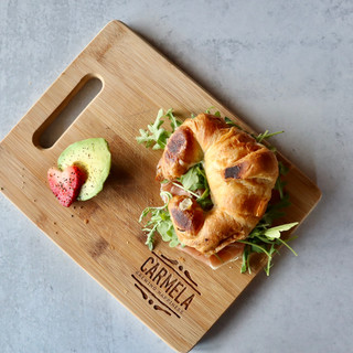 Carmela Coffee  Prosciutto and Swiss Cheese Croissant