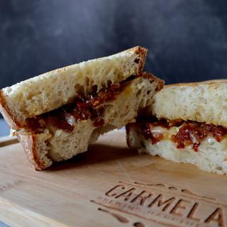 Carmela Coffee Crispy Bacon and Brie Panini