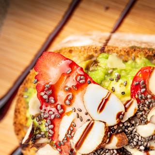 Strawberry And Almond Avocado Toast