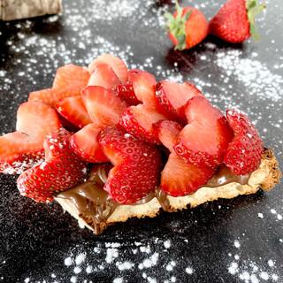 Strawberry And Nutella Bruschetta